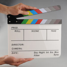 Colorful Clapperboard Movie Video Film Action Slate Clap Stick Handmade