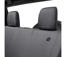 Bestop Rear Seat Cover For 07-17 Wrangler 2-Door Black Denim #29282-35