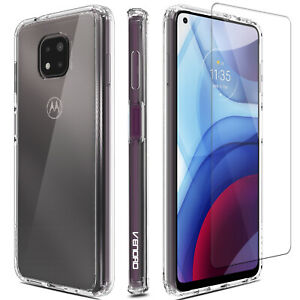 For Motorola Moto G Power 2021 Phone Case Clear Slim TPU Cover/ Screen Protector