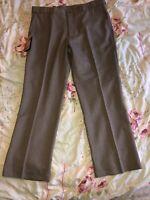 Mens 38w Farah Trousers Bnwt Farahs 38/29 Dark Taupe Flexi Waist Brand New Pants