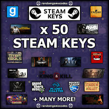 50 x Random Steam CD Keys - CHEAPEST - Games up to £40!!!