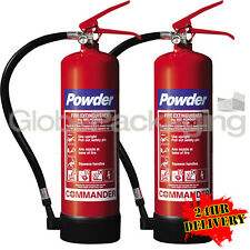 2 X 4kg Dry Powder ABC Fire Extinguishers Industrial