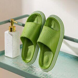 Summer Home Slide Women Sandals Men Bathroom Slippers Soft EVA Thick Sole Shoes