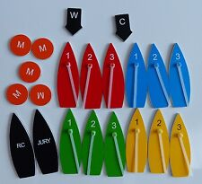 Standard magnetic boat set for clubs, coaches and race committees, protest kit