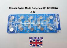 SR920SW Watch Battery x 10  Renata 371 1.55v  Fits Some Casio Edifice