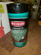 NEW Weiman x30 GRANITE WIPES Cleans Polishes All Solid Surface Countertops HQ