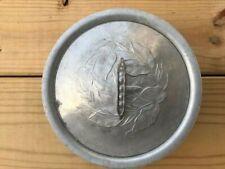 VTG Everlast Veggie Bowl w/ Peapod Lid Hand Forged Hammered Aluminum  #1038