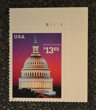 USA2002 #3648 $13.65 Capitol Dome - Plate Number Single Express Mail  Mint NH