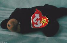 Blackie & Cubbie Beanie Babies Collector 1993 TWO BEARS/ Best Buddies PVC pellet