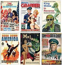 "Set Of SIX Trump Parody Posters - 11x17""( Signed by Artist) - vivid colors"