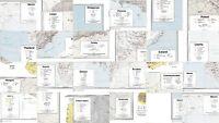 23 Different Countries Vintage Original CIA Maps 1972-74