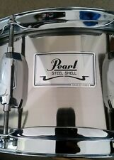 Pearl Steel Shell Snare Drum with stand, Drumsticks, and Bag