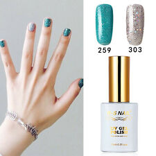 2 PIECES RS 259_303 Gel Nail Polish UV LED Sequined Green Sequined Silver 15ml