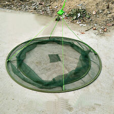 "31"" Folding Landing Net Drop Fishing Net Prawn Bait Crab Shrimp Pier Harbour"