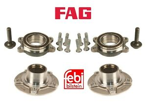 Front Left & Right Wheel Hubs with Bearings Pair Set for Audi A4 A5 Quattro Q5