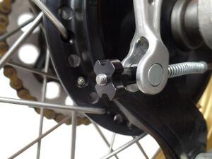 NEW CNC Billet Aluminum Rear Brake Adjuster - Vintage Yamaha YZ IT - Black