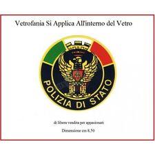 Vetrofania Adesivo da Parabrezza Auto Con Logo Polizia di Stato Libera Vendita