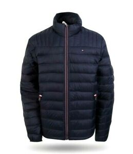 Tommy Hilfiger Mens Midnight Blue Packable Down Jacket Size L