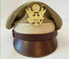 b1307-L  WW 2 US Army Women/'s Army Corps WAC OD Officer Overseas cap size 58 W7D
