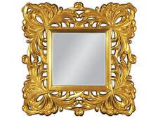 Wandspiegel Rahmenspiegel 100x100 Quadrat Barock in GOLD Ornamente Spiegel  WOE