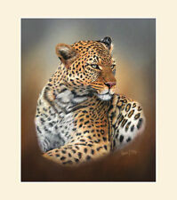 Original African Leopard Painting by Robert J. May