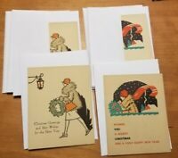 Vintage Antique Early Unused Christmas Cards set of 12 - 6 of each pattern