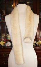 "Natural PEARL Mink Fur Belt With a Rhinestone Buckle For a Fur Coat 44"" Long"