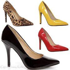 New Women's Pointy Toe Stiletto High Heels Dress Pumps Shoes Black Red Leopard