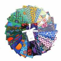 """Kaffe Fassett Collective 2020 Cool, 5"""" Charm Pack, Fabric Quilting Squares"""