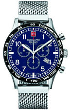Swiss Alpine Military Aviator Chrono Blue Dial Silver Men's Watch 1746.9135 SAM