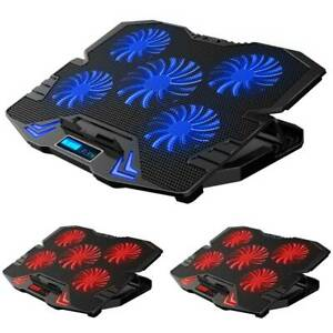 Gaming Notebook Laptop Cooler Notebook Cooling Pad Mat Adjustable Stand 5 Fan