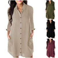Fashion Women Long T-shirt Ladies Casual Mini Dress Long Blouse Tops Loose Hot