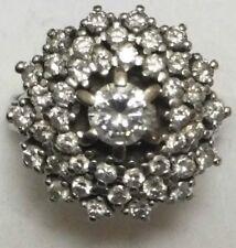Antico 18k ORO BIANCO 1.75 kt Anello di diamanti Cluster