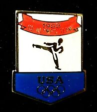 1988 SEOUL USA TEAM JUDO KARATE VENUE OLYMPIC GAMES PIN BADGE