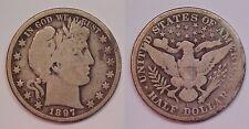 1897 O Barber Half Dollar Very Good - Good VG - G