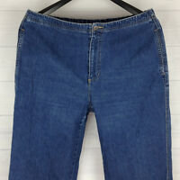 1a467302254 Liz Claiborne Elastic Waistband Petite Women W36 37 in. x L28 Blue Tapered  Jeans