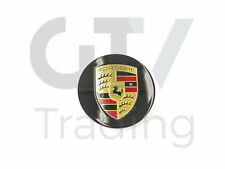 A New PORSCHE Porsche Cayenne 11-15 Round Gloss Black Center Cap 95836130303