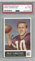 1965 Philadelphia football card 110 Fran Tarkenton Minnesota Vikings grade PSA 6