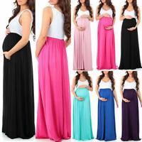 Pregnant Women's Maternity Maxi Long Dress Beach Summer Party Ladies Pregnancy