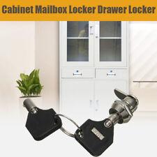 Cam Lock for Door Cabinet Mailbox Cupboard Locker 2 Keys replacement