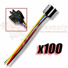 IMC AUDIO 12 VOLT 5 WIRE SPDT BOSCH/TYCO STYLE CAR AUTO RELAY SOCKET HARNESS 100