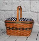 Longaberger Miniature Market Basket Combo Liner JW Collectors Club 1996 Signed