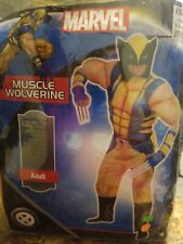 Marvel Wolverine - Classic Adult Muscle XL Costume Halloween Rubies  #230