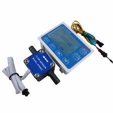 "3/8"" Liquid Gear Fuel Oil Flow Sensor+LCD Display control f diesel gasoline milk"