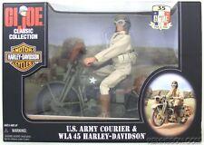 GI Joe Classic U.S. Army Courier & WLA 45 Harley-Davidson Motorcycle Blue Eyes