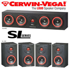 Cerwin Vega SL Series Bundle Surround Sound Home Theater Bundle SL-5M SL-45C New