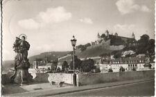 Alte Postkarte - Würzburg - Pat. Franconia mit Festung und Käppele