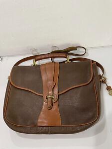 """Genuine Dooney & Bourke Vintage All Weather Leather Briefcase Messenger 16 x 12"""""""
