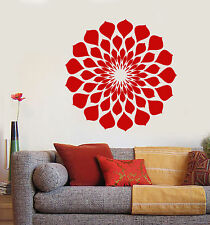 Vinyl Wall Decal Lotus Flower Nature Style Garden Decor Stickers (1643ig)