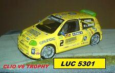 UNIVERSAL HOBBIES RENAULT CLIO 2 V6 TROPHY 2000 N°2 RANGONI AU 1/43